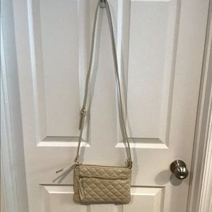 Forever 21 Cream Quilted Purse